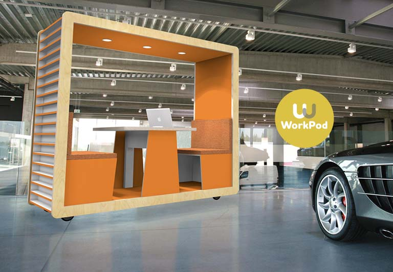 """Een flexibele, multifunctionele 'feel good' werkruimte! """"Hello WorkPod!"""""""
